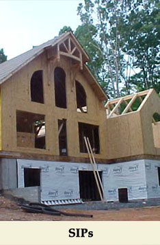 Structural Insulated Panels or SIPs offer superior energy efficiency